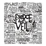 Pierce The Veil Music Band Group Fabric Art Cloth Poster Shower Curtain 66  x 72  (Large)  58.75 x64.8 Curtain