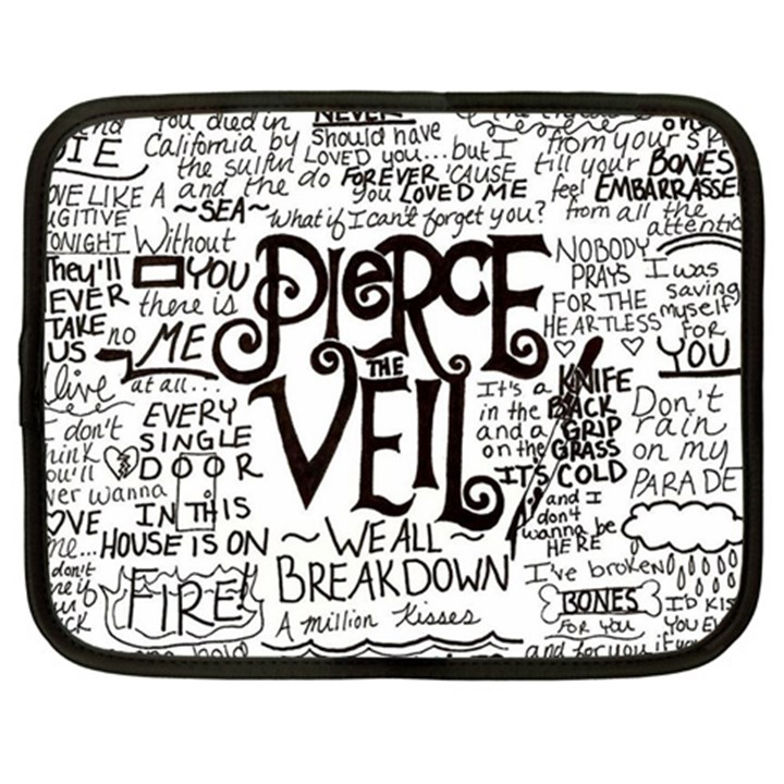 Pierce The Veil Music Band Group Fabric Art Cloth Poster Netbook Case (XL)