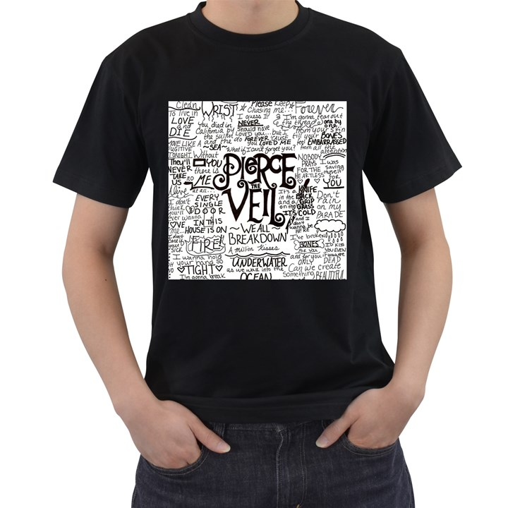 Pierce The Veil Music Band Group Fabric Art Cloth Poster Men s T-Shirt (Black)