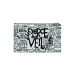 Pierce The Veil Music Band Group Fabric Art Cloth Poster Cosmetic Bag (Small)  Back