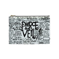 Pierce The Veil Music Band Group Fabric Art Cloth Poster Cosmetic Bag (Medium)