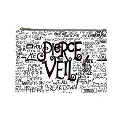 Pierce The Veil Music Band Group Fabric Art Cloth Poster Cosmetic Bag (Large)