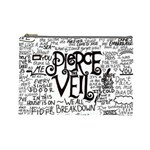 Pierce The Veil Music Band Group Fabric Art Cloth Poster Cosmetic Bag (Large)  Front