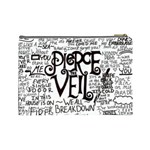 Pierce The Veil Music Band Group Fabric Art Cloth Poster Cosmetic Bag (Large)  Back