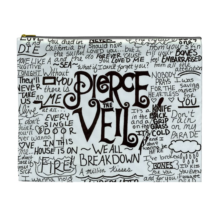 Pierce The Veil Music Band Group Fabric Art Cloth Poster Cosmetic Bag (XL)