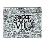 Pierce The Veil Music Band Group Fabric Art Cloth Poster Cosmetic Bag (XL) Back