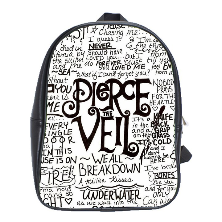 Pierce The Veil Music Band Group Fabric Art Cloth Poster School Bags(Large)