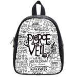 Pierce The Veil Music Band Group Fabric Art Cloth Poster School Bags (Small)  Front