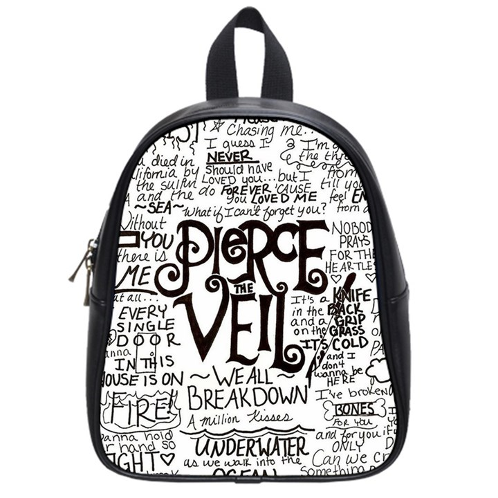 Pierce The Veil Music Band Group Fabric Art Cloth Poster School Bags (Small)