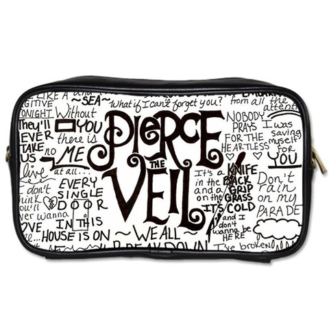 Pierce The Veil Music Band Group Fabric Art Cloth Poster Toiletries Bags 2-Side