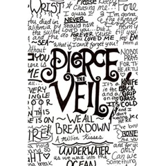 Pierce The Veil Music Band Group Fabric Art Cloth Poster 5.5  x 8.5  Notebooks