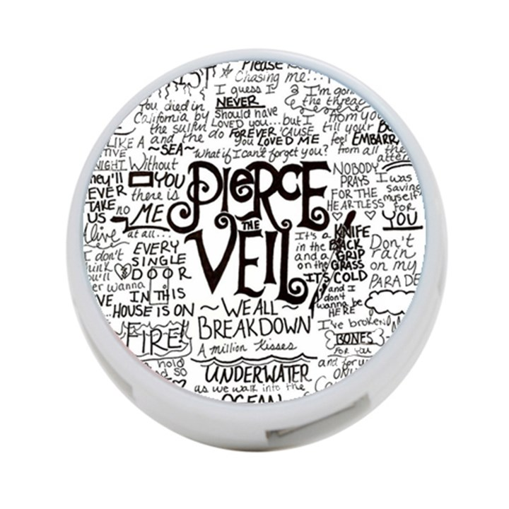 Pierce The Veil Music Band Group Fabric Art Cloth Poster 4-Port USB Hub (Two Sides)