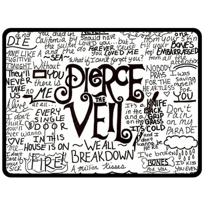 Pierce The Veil Music Band Group Fabric Art Cloth Poster Fleece Blanket (Large)