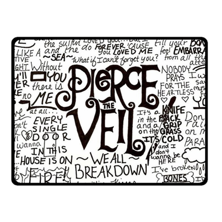 Pierce The Veil Music Band Group Fabric Art Cloth Poster Fleece Blanket (Small)