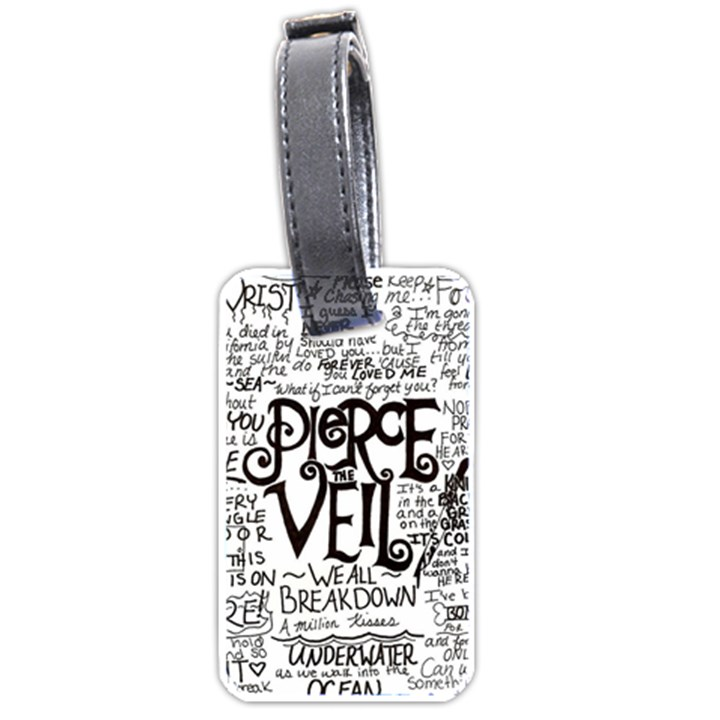 Pierce The Veil Music Band Group Fabric Art Cloth Poster Luggage Tags (One Side)