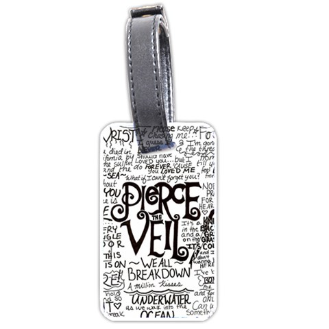 Pierce The Veil Music Band Group Fabric Art Cloth Poster Luggage Tags (Two Sides)