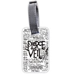 Pierce The Veil Music Band Group Fabric Art Cloth Poster Luggage Tags (Two Sides) Front