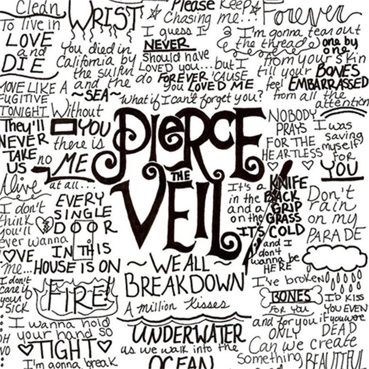 Pierce The Veil Music Band Group Fabric Art Cloth Poster Magic Photo Cubes