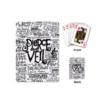Pierce The Veil Music Band Group Fabric Art Cloth Poster Playing Cards (Mini)  Back