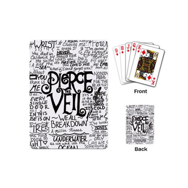 Pierce The Veil Music Band Group Fabric Art Cloth Poster Playing Cards (Mini)