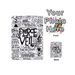 Pierce The Veil Music Band Group Fabric Art Cloth Poster Playing Cards 54 (Mini)  Front - Spade2