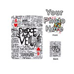 Pierce The Veil Music Band Group Fabric Art Cloth Poster Playing Cards 54 (Mini)  Front - Heart4