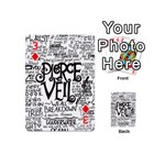 Pierce The Veil Music Band Group Fabric Art Cloth Poster Playing Cards 54 (Mini)  Front - Diamond3