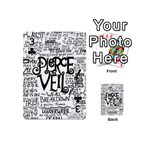 Pierce The Veil Music Band Group Fabric Art Cloth Poster Playing Cards 54 (Mini)  Front - Club3
