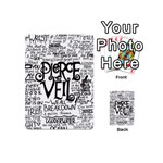 Pierce The Veil Music Band Group Fabric Art Cloth Poster Playing Cards 54 (Mini)  Back