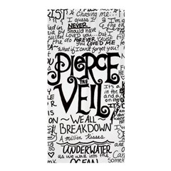 Pierce The Veil Music Band Group Fabric Art Cloth Poster Shower Curtain 36  x 72  (Stall)