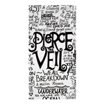 Pierce The Veil Music Band Group Fabric Art Cloth Poster Shower Curtain 36  x 72  (Stall)  33.26 x66.24 Curtain