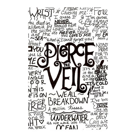 Pierce The Veil Music Band Group Fabric Art Cloth Poster Shower Curtain 48  x 72  (Small)