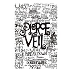 Pierce The Veil Music Band Group Fabric Art Cloth Poster Shower Curtain 48  x 72  (Small)  42.18 x64.8 Curtain