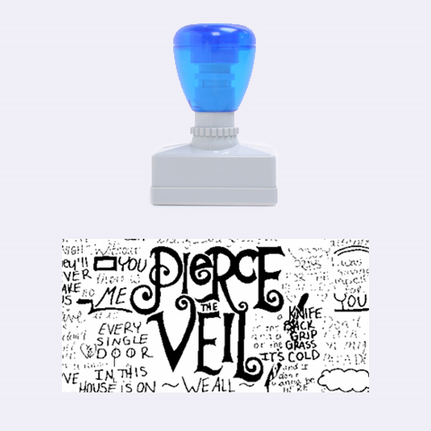 Pierce The Veil Music Band Group Fabric Art Cloth Poster Rubber Stamps (Medium)