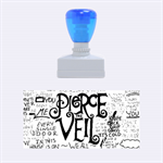 Pierce The Veil Music Band Group Fabric Art Cloth Poster Rubber Stamps (Medium)  1.34 x0.71  Stamp