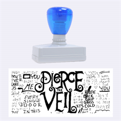 Pierce The Veil Music Band Group Fabric Art Cloth Poster Rubber Stamps (Large)