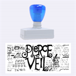 Pierce The Veil Music Band Group Fabric Art Cloth Poster Rubber Stamps (Large) 2.26 x1.05  Stamp