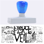 Pierce The Veil Music Band Group Fabric Art Cloth Poster Rubber Address Stamps (XL) 3.13 x1.38  Stamp