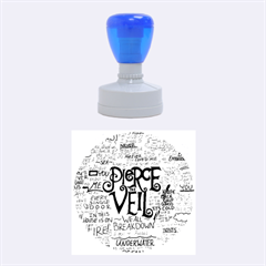 Pierce The Veil Music Band Group Fabric Art Cloth Poster Rubber Round Stamps (medium)