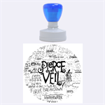 Pierce The Veil Music Band Group Fabric Art Cloth Poster Rubber Round Stamps (Large) 1.875 x1.875  Stamp