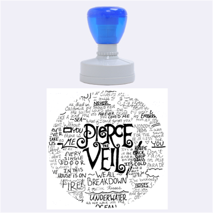 Pierce The Veil Music Band Group Fabric Art Cloth Poster Rubber Round Stamps (Large)