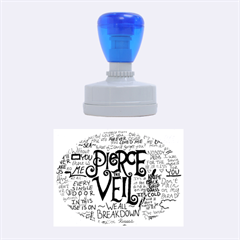 Pierce The Veil Music Band Group Fabric Art Cloth Poster Rubber Oval Stamps