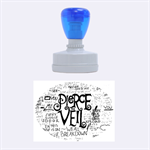 Pierce The Veil Music Band Group Fabric Art Cloth Poster Rubber Oval Stamps 1.88 x1.37  Stamp