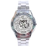 Pierce The Veil Music Band Group Fabric Art Cloth Poster Stainless Steel Analogue Watch Front
