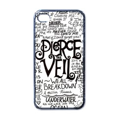 Pierce The Veil Music Band Group Fabric Art Cloth Poster Apple iPhone 4 Case (Black)