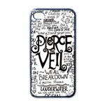 Pierce The Veil Music Band Group Fabric Art Cloth Poster Apple iPhone 4 Case (Black) Front