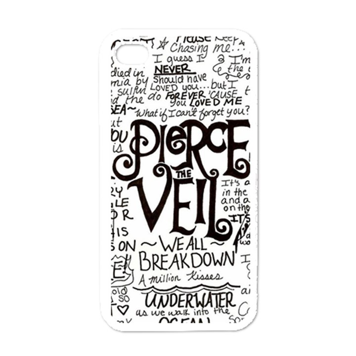 Pierce The Veil Music Band Group Fabric Art Cloth Poster Apple iPhone 4 Case (White)