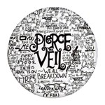 Pierce The Veil Music Band Group Fabric Art Cloth Poster Ornament (Round Filigree)  Front
