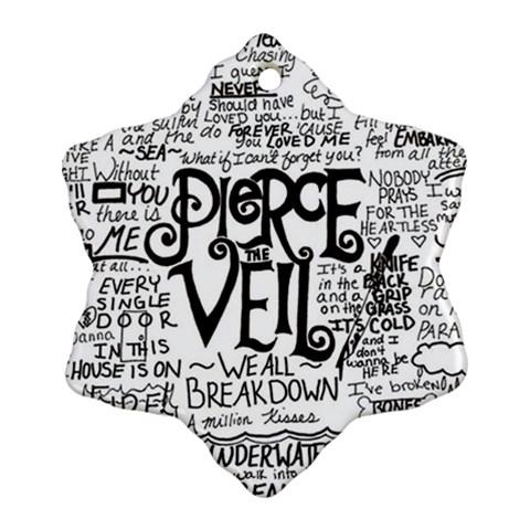 Pierce The Veil Music Band Group Fabric Art Cloth Poster Ornament (Snowflake)