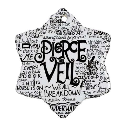 Pierce The Veil Music Band Group Fabric Art Cloth Poster Snowflake Ornament (2-Side)